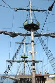 Mast On Sailing Vessel
