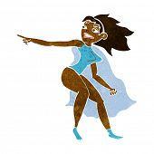 cartoon superhero woman pointing