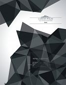 Abstract Geometric 3D Background. Vector Illustration.