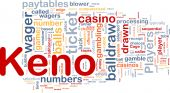 stock photo of keno  - Background concept wordcloud illustration of gambling betting gaming - JPG