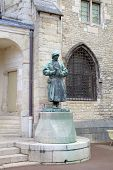 Statue of sculptor Claus Sluter in the Palace of Dukes and Estates of Burgundy. Dijon, France