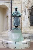 foto of dukes  - Statue of sculptor Claus Sluter in the Palace of Dukes and Estates of Burgundy - JPG