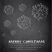 Christmas snowflake blackboard chalkboard vetor flake