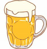 Beer mug vector design clipart