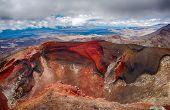 Red Crater on the top of Tongariro Volcano, Tongariro Crossing National Park - New Zealand