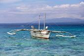 Filipino Boat In The Sea, Apo, Philippines