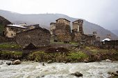 Village Ushguli In Upper Svaneti In Georgia