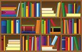 vector illustration of bookshelf
