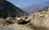 pic of humvee  - This is a picture of soldiers out on patrol in Eastern Afghanistan - JPG