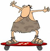 Caveman on a skateboard