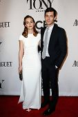 NEW YORK-JUNE 8: Actors Leighton Meester (L) and husband Adam Brody attend American Theatre Wing's 6