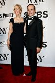 NEW YORK-JUNE 8: Actor Jefferson Mays (R) and wife Susan Lyons attend American Theatre Wing's 68th Annual Tony Awards at Radio City Music Hall on June 8, 2014 in New York City.