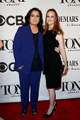 NEW YORK-JUNE 8: Actress Rosie O'Donnell (L) and wife Michelle Rounds attend American Theatre Wing's