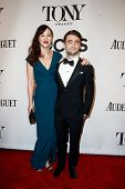 NEW YORK-JUNE 8: Actress Erin Darke (L) and Daniel Radcliffe attend American Theatre Wing's 68th Ann