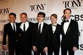 NEW YORK-JUNE 8: Actor Neil Patrick Harris (R) and cast of Hedwig the Angry Inch attend American The