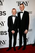 NEW YORK-JUNE 8: Director Darko Tresnjak and Josh Pearson attend American Theatre Wing's 68th Annual