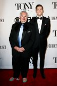 NEW YORK-JUNE 8: Actors Harvey Fierstein (L) and Gabriel Ebert attend American Theatre Wing's 68th A