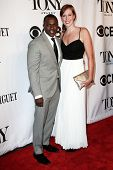 NEW YORK-JUNE 8: Actor Joshua Henry (L) and Cathryn Stringer attend American Theatre Wing's 68th Ann