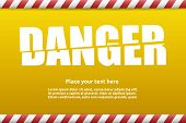 Danger Warning Sign Template For Your Text