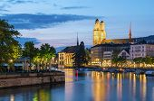 Limmat River In Zurich