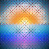 triangular background of dawn vector illustration