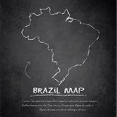 Brazil map blackboard chalkboard vector
