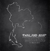 Thailand map blackboard chalkboard vector