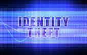 Identity Theft on a Tech Business Chart Art