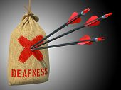 Deafness - Arrows Hit in Red Mark Target.