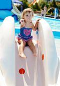 Cute Toddler In Aqua Park