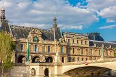 View From The River Seine To Paris, Palace And Embankment, France