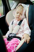 Girl Sleeping In Car
