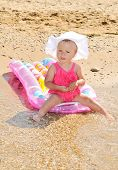 Funny Baby  On The Beach