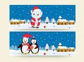 Website header or banner design for Merry Christmas celebrations.