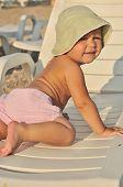 Cute Baby On The Beach
