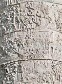 Trajan's Column relief. Rome. Italy.