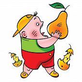 Boy With Pear