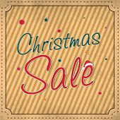 Stylish sale poster, banner or flyer with stylish text for Merry Christmas celebrations.