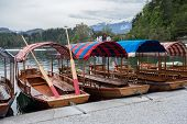 Boats On A Bled Lake