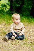 Toddler Boy On The Meadow