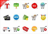 Online shopping icons