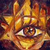 mystische Auge und hand
