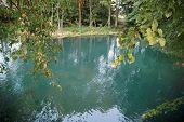 Lake with blue, healing water.