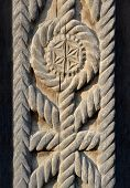 foto of wood craft  - This is a fragment of wood gate - JPG