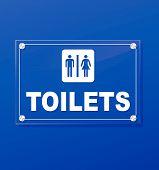 Toilets Transparent Sign