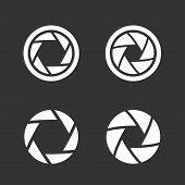 Shutter icons set