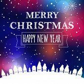 Christmas greeting card light background