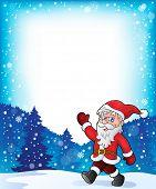 Santa Claus walk theme 3 - eps10 vector illustration.