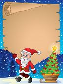 Christmas topic parchment 1 - eps10 vector illustration.