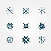 Beautiful snowflakes
